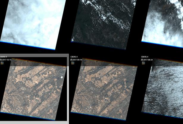 Selecione as imagens com data recente e sem nuvens