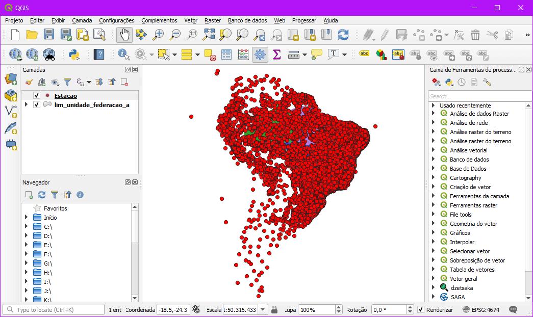 35 mil estações hidrometeorológicas sobre a América Latina