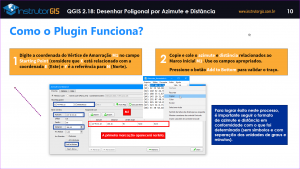 QGIS: Como usar o Azimuth and Distance Plugin