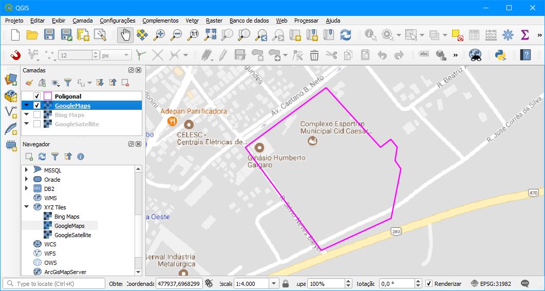 Provedor Google Maps no QGIS