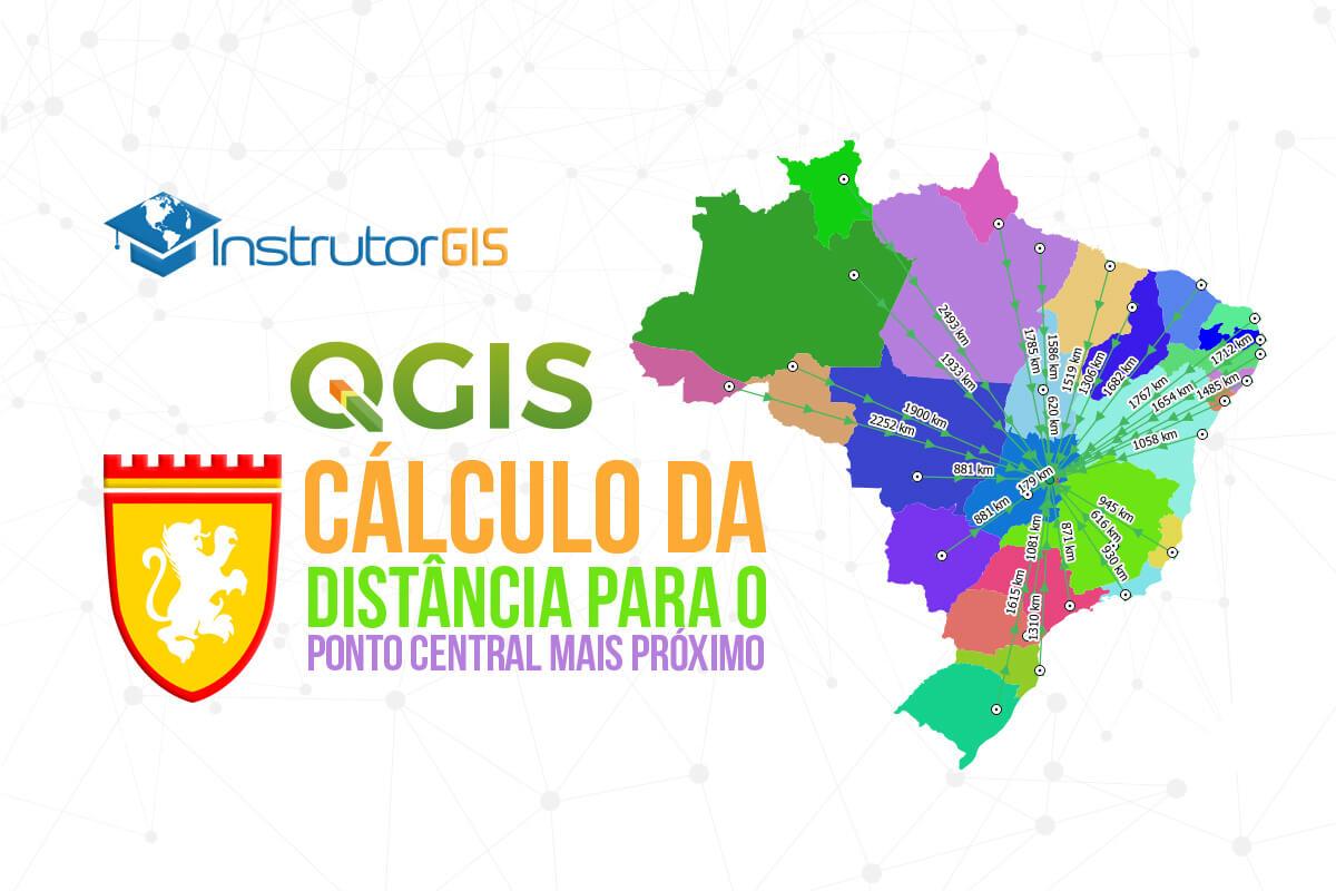 QGIS 3: Distância entre Pontos: Cálculo da Distância de um Ponto