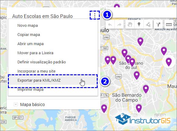 Google Maps - Exportar Pontos para KML