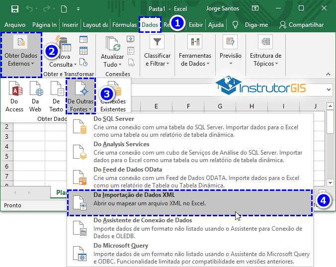 Obter XML - Dados Externos do Excel