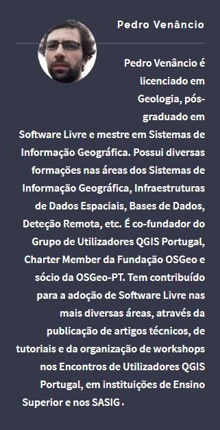 Perfil resumido do Pedro Venâncio