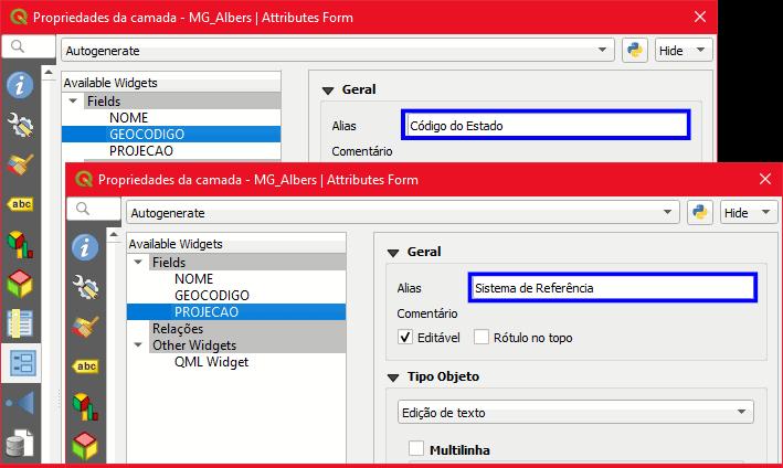 QGIS: Criação de um ALIAS para campos da tabela | InstrutorGIS